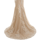 Champagne Mermaid Wedding Dresses