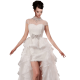 White Removable Sleeveless Ball Gown In Lace Wedding Dress