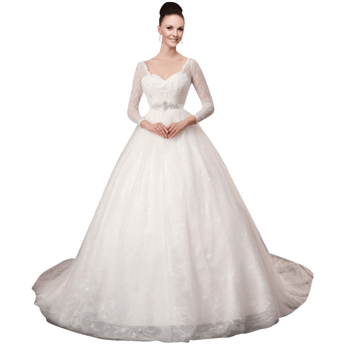 Gown In Lace Wedding Dress