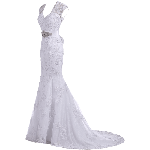 Elegant Trumpet Evening Gown Bridal