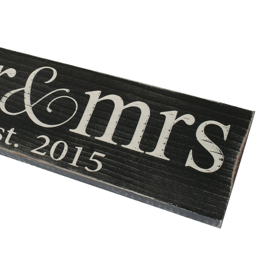 Vintage Wood Sign for Wedding
